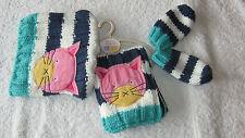 Next 3-9 months CAT HAT SCARF & MITTENS SET *BNWT* Baby Girls New Winter 3-6-9