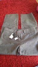 NEXT Ladies Grey Herringbone Tailored Trousers Size 16 Reg