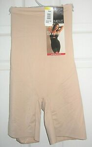 NWT Miraclesuit Real Smooth Extra Firm Control Hi Waist Nude Thigh Slimmer Med.