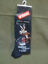 "Vintage Looney Tunes Wil-E-Coyote ""Genius Strikes Again"" Mens Socks"
