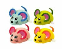 4x Wind Up Racing 4 Mice-Realistic Looking Mice Carefree Pet Toy Assorted Colour