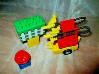 Lego Duplo Feuerwehr Tank Anhänger Schlauch Feuerwehrmann Löschfahrzeug Figur