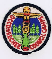 1950's Camp Patch Occoneechee Council Camps BLK/WHT Brd  600607