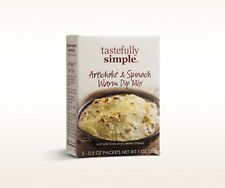 2 boxes of Tastefully Simple Artichoke & Spinach Warm Dip Mix NEW IN BOX