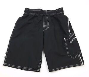 Speedo Boys Swim Trunks Board Shorts Black Size M