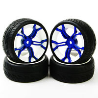 4X 1:10 RC Rubber Tire Rims For Flat Racing On Road Car PP0150+MPNWB 12mm Hex
