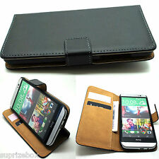 Vintage Real Genuine Leather Wallet Flip Stand Case Cover for HTC ONE 2 M8