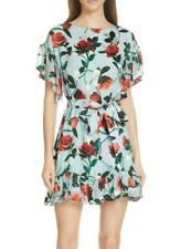 2019 Alice + Olivia Ella Mae Rosebud Floral Drop Shoulder Dress $395 Small 4 6