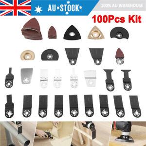 100x Oscillating Multi Tool Blades Kit For Fein Makita Bosch Milwaukee Multitool