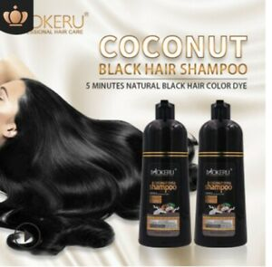 500ml Mokeru Instant Hair Color Dye Shampoo Natural Organic Coconut Oil Essence