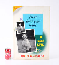 KODAK PHOTO FINISHING SIGN, 22 INCHES TALL, STAINED/cks/208404