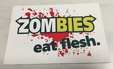 Zombies Eat Flesh Sticker Funny Joke Subway The Walking Dead Zombie Blood Decal
