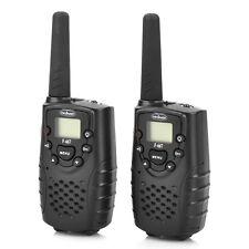 Black 2 Pack Set 462.MHz Walkie Talkie 22 Channels 5KM Range For F667