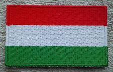HUNGARY FLAG PATCH Embroidered Badge Iron or Sew on 3.8cm x 6cm Magyarország NEW