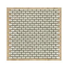 CERAMICA DI TREVISO mosaico da rivestimento 2,5x1 MURETTO bianco lucido