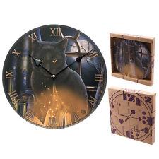 Wanduhr Katze 30cm Bilderuhr Tier Uhr rund Cat Motivuhr Deko Magie Fotouhr NEU