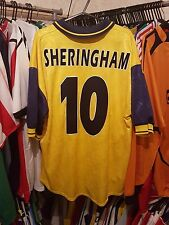 Tottenham Football Shirt 1995/97 Away Large ~ Sheringham 10 Spurs