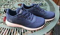 Womens Skechers Bobs Sport Squad Ladies Trainers Navy Blue UK 5 New No Box