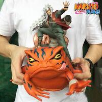 Naruto Shippuden Jiraiya Gama Sennin Gama Bunta GK Statue Figure Toy Brinquedos