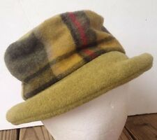 Ganteb's/Gantebs Wool Blend Made In France Hat Green Plaid
