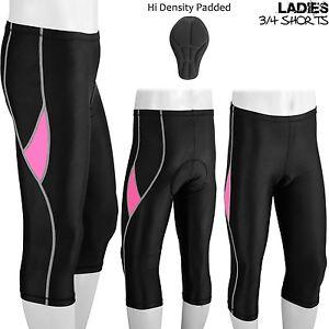 Ladies Cycling Shorts Three Quarter 3/4 Legging Hi Density Padded DBX M, L, XL