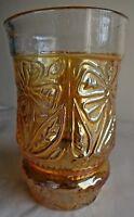 Vintage Carnival Glass Tumblers Fantasy Flower Jain Glass Works India Rare #53 F