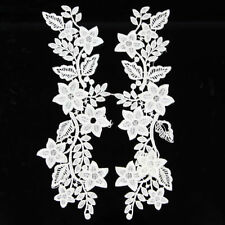 Lace Embroidery Neck Collar Trimming Floral Neckline Sewing Applique Patch Craft