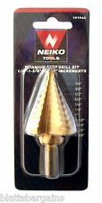 "NEIKO TOOLS 1/4"" TO 1-3/8"" TITANIUM NITRIDE STEP DRILL BIT 10 SIZES 10194A UNI"