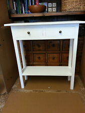 H100 W75 D30cm BESPOKE WHITE CONSOLE HALL TELEPHONE BEDROOM TABLE 2 DRAWERS