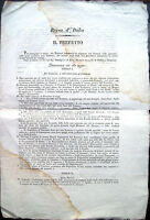 1813 NASCONO BORSE DI STUDIO UNIVERSITARIE DOCUMENTO NAPOLEONICA FORLIVESE
