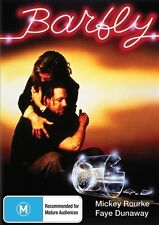 BARFLY DVD=MICKEY ROURKE=REGION 4 AUSTRALIAN RELEASE= BRAND NEW AND SEALED