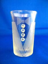 4 personalized tuxedo glass shot glasses/ groomsmen ENGRAVED