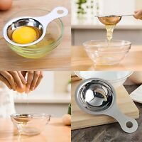 Stainless Steel Egg White Filter Egg Yolk Separator Tool Kitchen Cooking AU