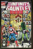 Infinity Gauntlet #2, NM- 9.2, Thanos, Warlock, Wolverine, Iron Man, Hulk