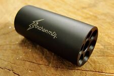 1/2-28 Linear Compensator Muzzle Brake Stainless Steel .223 5.56 .22 LR BLACK