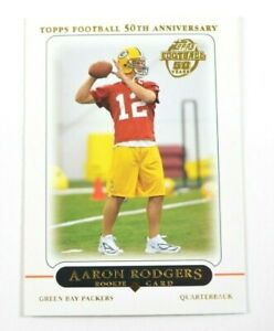Aaron Rodgers Topps 2005 Rookie 50th Anniversary Card