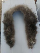 Vintage Handmade Natural Genuine Raccoon Fur Collar Scarf?