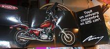 Dépliant formant Catalogue-Poster Ancienne Moto KYMCO ZING 125Cm3