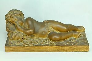 *Signed Michel CLODION (French, 1738-1814) Terracotta Sleeping Bacchus Sculpture
