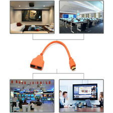 HDMI Splitter Cable Male to Female M/F 1 in 2 out Converter Adapter Orange