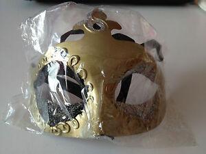 BNIP Gold, Black & Silver Design Masquerade Ball Eye Mask by Smiffys