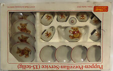 TEA SET : 15 PIECE STEIFF TEDDY BEAR TEA SET.  RE-ISSUE OF JACKIE 1953 (SK)