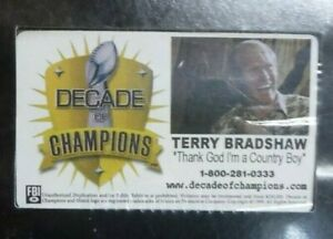PITTSBURGH STEELERS TERRY BRADSHAW 1999 DECADE OF CHAMPIONS VHS TAPE SEALED