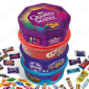 Celebrations Heroes Roses Quality Street Chocolate Tubs Gift Sweets Christmas🎄