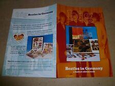 BEATLES IN GERMANY BIG Genesis Publications Promo Brochure Booklet KIRCHHERR