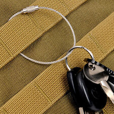 10PCS Stainless Steel Wire Keychain Cable Ring Cable For Outdoor Loop Keyring