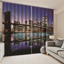 New York Night Scenery Window Curtain Curtains Drapes Living Room Bedroom Decor