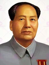 PAINTING PORTRAIT CHINESE POLITICAL LEADER MAO ZEDONG POSTER ART PRINT LV10587