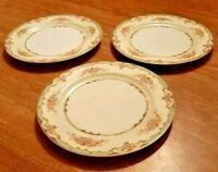 NORITAKE CAROLA DINNER PLATES  EXCELLENT CONDITION  LOT OF 3 VINTAGE