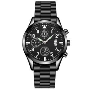 Luminous Calendar Metal Strap Men's Analog Quartz Formal Casual Wrist Watch Gift